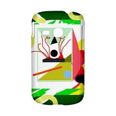 Green abstract artwork Samsung Galaxy S6310 Hardshell Case