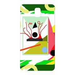 Green abstract artwork Samsung Galaxy Note 3 N9005 Hardshell Back Case
