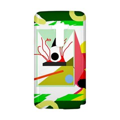 Green abstract artwork LG G Flex