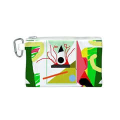 Green abstract artwork Canvas Cosmetic Bag (S)