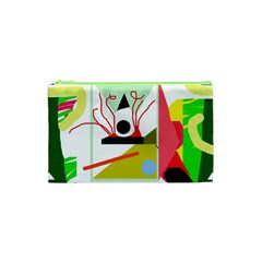 Green abstract artwork Cosmetic Bag (XS)