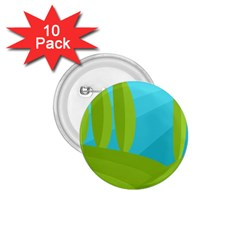 Green and blue landscape 1.75  Buttons (10 pack)