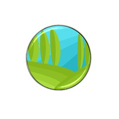 Green and blue landscape Hat Clip Ball Marker (10 pack)