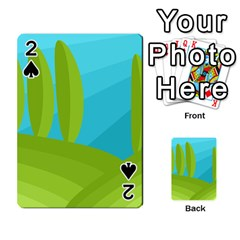 Green and blue landscape Playing Cards 54 Designs