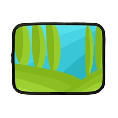 Green and blue landscape Netbook Case (Small)