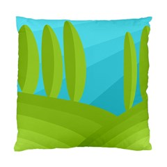 Green and blue landscape Standard Cushion Case (One Side)