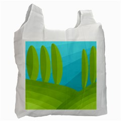 Green and blue landscape Recycle Bag (One Side)