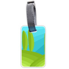Green and blue landscape Luggage Tags (Two Sides)
