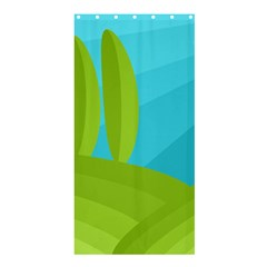 Green and blue landscape Shower Curtain 36  x 72  (Stall)