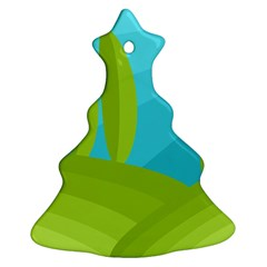 Green and blue landscape Ornament (Christmas Tree)