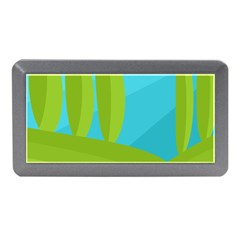 Green and blue landscape Memory Card Reader (Mini)