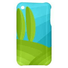 Green and blue landscape Apple iPhone 3G/3GS Hardshell Case
