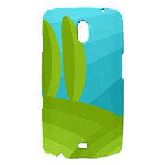 Green and blue landscape Samsung Galaxy Nexus i9250 Hardshell Case