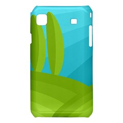 Green and blue landscape Samsung Galaxy S i9008 Hardshell Case
