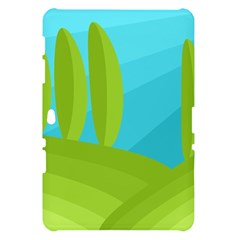 Green and blue landscape Samsung Galaxy Tab 10.1  P7500 Hardshell Case