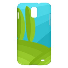 Green and blue landscape Samsung Galaxy S II Skyrocket Hardshell Case