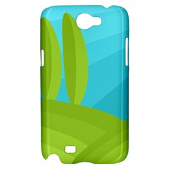 Green and blue landscape Samsung Galaxy Note 2 Hardshell Case