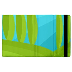 Green and blue landscape Apple iPad 2 Flip Case