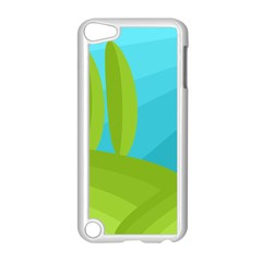 Green and blue landscape Apple iPod Touch 5 Case (White)