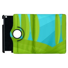 Green and blue landscape Apple iPad 3/4 Flip 360 Case