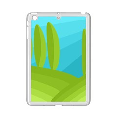 Green and blue landscape iPad Mini 2 Enamel Coated Cases