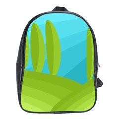 Green and blue landscape School Bags (XL)