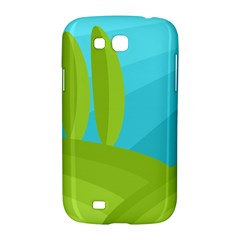 Green and blue landscape Samsung Galaxy Grand GT-I9128 Hardshell Case