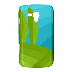 Green and blue landscape Samsung Galaxy Duos I8262 Hardshell Case