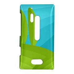 Green and blue landscape Nokia Lumia 928