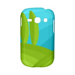 Green and blue landscape Samsung Galaxy S6810 Hardshell Case