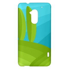 Green and blue landscape HTC One Max (T6) Hardshell Case