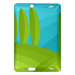 Green and blue landscape Amazon Kindle Fire HD (2013) Hardshell Case
