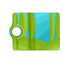Green and blue landscape Kindle Fire HD (2013) Flip 360 Case
