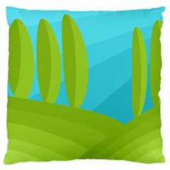 Green and blue landscape Large Flano Cushion Case (One Side)