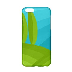 Green and blue landscape Apple iPhone 6/6S Hardshell Case