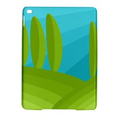 Green and blue landscape iPad Air 2 Hardshell Cases