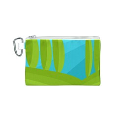 Green and blue landscape Canvas Cosmetic Bag (S)