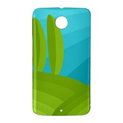 Green and blue landscape Nexus 6 Case (White)