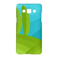 Green and blue landscape Samsung Galaxy A5 Hardshell Case