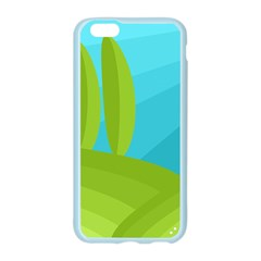 Green and blue landscape Apple Seamless iPhone 6/6S Case (Color)