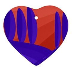 Purple and orange landscape Ornament (Heart)