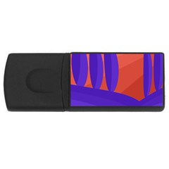 Purple and orange landscape USB Flash Drive Rectangular (4 GB)