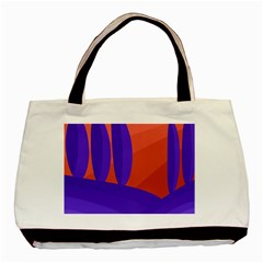 Purple and orange landscape Basic Tote Bag (Two Sides)