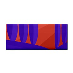 Purple and orange landscape Hand Towel