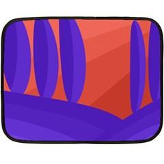 Purple and orange landscape Double Sided Fleece Blanket (Mini)