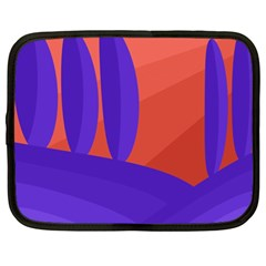 Purple and orange landscape Netbook Case (XL)