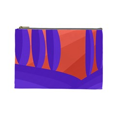 Purple and orange landscape Cosmetic Bag (Large)