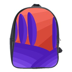 Purple and orange landscape School Bags(Large)