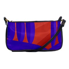Purple and orange landscape Shoulder Clutch Bags