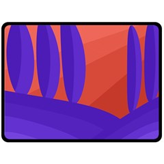 Purple and orange landscape Fleece Blanket (Large)